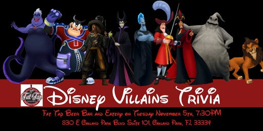 Disney Villains Trivia  at Fat Tap Beer Bar & Eatery