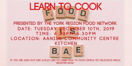 Learn To Cook- Youth  tickets