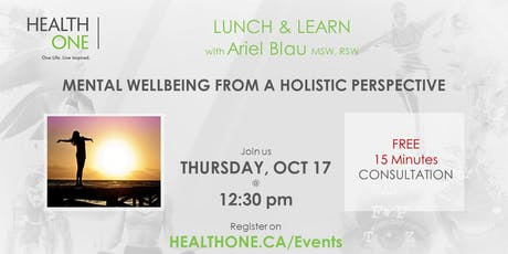 Mental Wellbeing from a Holistic Perspective tickets