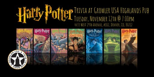 Harry Potter Books Trivia at Growler USA Highlands Pub