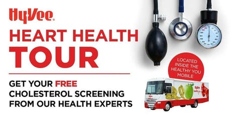 Hy-Vee FREE Cholesterol Screenings tickets