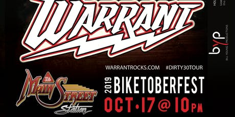 LIVE in concert WARRANT at Main Street Station tickets