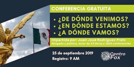 Conferencia Juan José Rodriguez Prats entradas