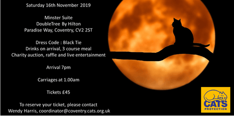 Coventry Cats Protection Black Tie Charity Ball tickets