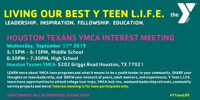 Houston Texans YMCA Teen Interest Meeting