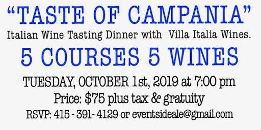 """""""TASTE OF CAMPANIA"""" Italian Wine Tasting Dinner"""