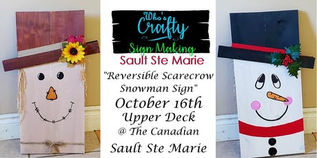 Who's Crafty SSM - Reversible Scarecrow Snowman Sign - Upper Deck tickets