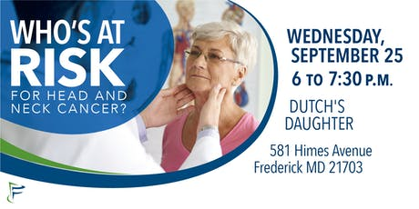 Who's at Risk for Head and Neck Cancer? tickets