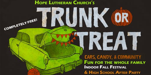 TRUNK OR TREAT - Fall Festival - High School After-Party -Kid Safe Event