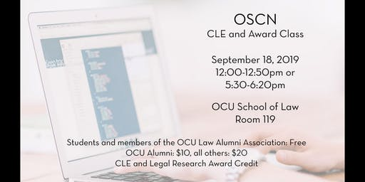 OSCN CLE and Legal Research Award Class