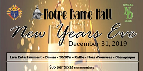 New Year's Eve @ Notre Dame Hall tickets