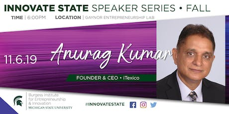 Innovate State, with Anurag Kumar tickets