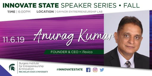 Innovate State, with Anurag Kumar