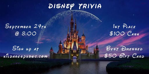 Disney (Movie and Music) Trivia Night