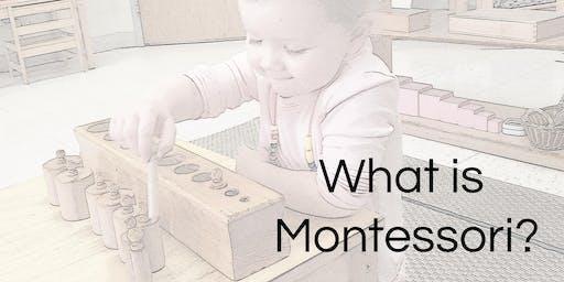 Parent Education- What is Montessori?