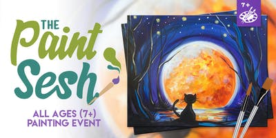 """All Ages Painting Event in Riverside, CA - """"Moon Shadow"""""""