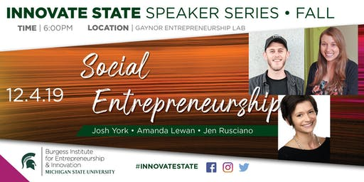 Innovate State: Social Entrepreneurship Edition