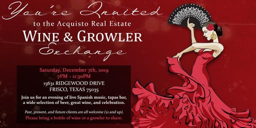 Annual Acquisto Real Estate Wine & Growler Exchange 2019