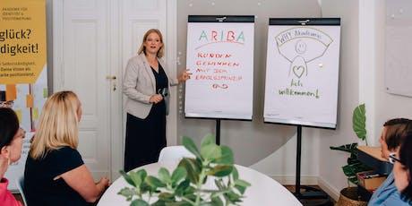 Workshop »ARIBA – Kunden gewinnen mit dem Erfolgsprinzip« Tickets