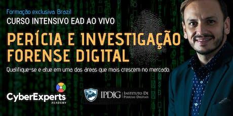 EAD: CURSO DE PERÍCIA E INVESTIGAÇÃO FORENSE DIGITAL (Perito em Computação Forense) bilhetes