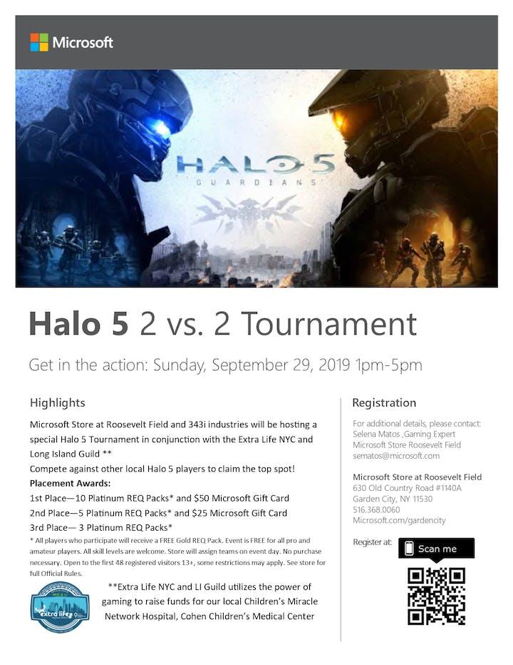FREE Halo 5 2 vs  2 Tournament Tickets, Sun, Sep 29, 2019 at