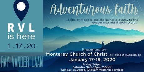 Ray Vander Laan | Adventurous Faith: A Journey to Find Deeper Meaning in God's Word tickets