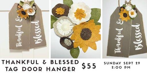 Thankful & Blessed Tag Door Hanger Workshop
