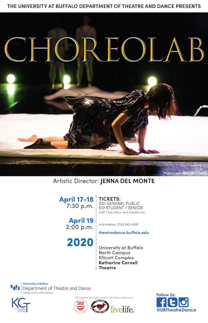 Ub Graduation 2020.Choreolab Tickets Sat Apr 18 2020 At 7 30 Pm Eventbrite