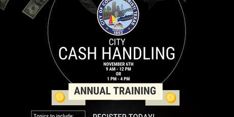 Cash Handling Training tickets