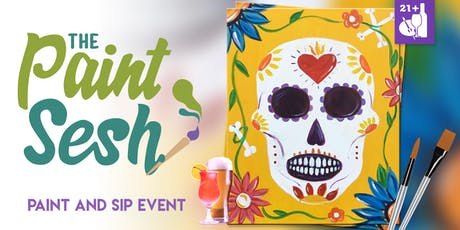 "Paint Night in Downtown Riverside, CA – ""Sugar Skull"" tickets"