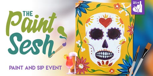 "Paint Night in Downtown Riverside, CA – ""Sugar Skull"""