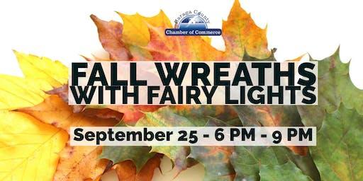 Fall Wreath with Fairy Lights