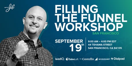 JBarrows Filling the Funnel Workshop San Francisco tickets