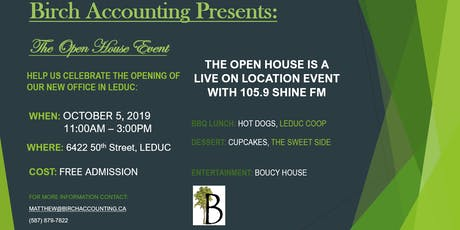 Birch Accounting Open House tickets