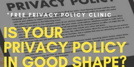 Privacy Policy Clinic tickets