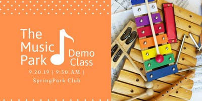 The Music Park Demo Class for Ages 0-4 Sept 20th, 9:30 am