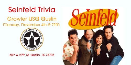 Seinfeld Trivia at Growler USA Austin