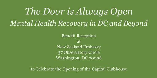 Benefit Reception for Capital Clubhouse at the New Zealand Embassy