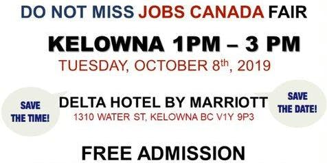 Kelowna Job Fair – October 8th, 2019