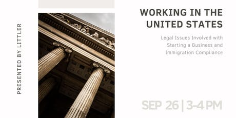 Working in the United States: Legal Issues and Immigration Compliance tickets