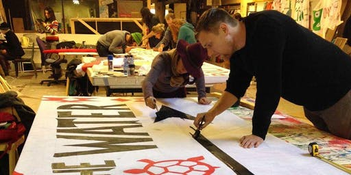 Global Climate Strike: Banner Making Workshop with Justseeds