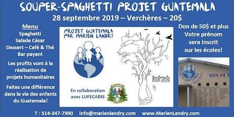 Souper-Spaghetti Projet Guatemala billets