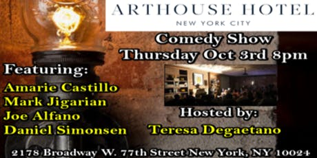 Comedy At The Arthouse Hotel tickets