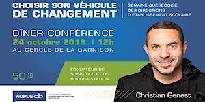 Dîner conférence de Christian Genest dans le cadre de...