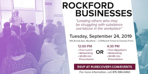 Substance Use / Abuse-Related Concerns In The Workplace - RU-Plus - Meet & Greet Event