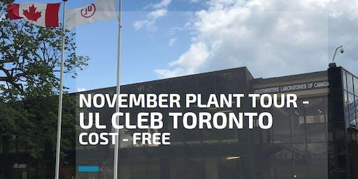 FREE November Plant Tour - UL CLEB Toronto