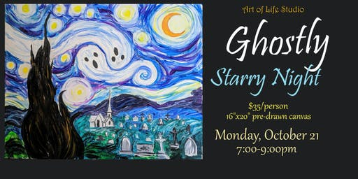 Paint Night: Ghostly Starry Night