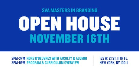 SVA Masters in Branding Open House tickets