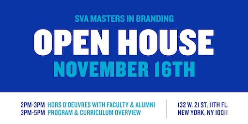 SVA Masters in Branding Open House