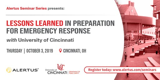Lessons Learned in Preparation for Emergency Response